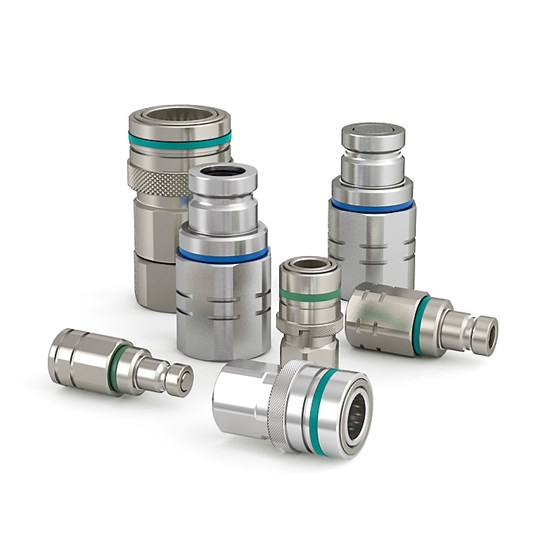 Non-drip quick couplings